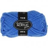 Fantasia Polyacryl Garn, Blau, L: 35 m, Größe maxi , 50 g/ 1 Knäuel