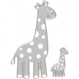 Stanz- und Prägeformen, Giraffe, Größe 54x92+21x35 mm, 1 Stck.