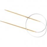 Rundstricknadel - Bambus, Nr. 2, L: 40 cm, 1 Stck.