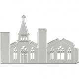 Stanz- und Prägeformen, Kirche, Größe 135x85 mm, 1 Stck.