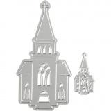 Stanz- und Prägeformen, Kirche, Größe 46x91+18x35 mm, 1 Stck.