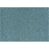 Bügelfolie, Hellblau, 148x210 mm, Glitter, 1 Bl.
