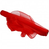 Organzastoff, Rot, B: 50 cm, 10 m/ 1 Rolle