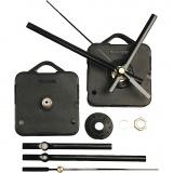 Mechanisches Uhrwerk, Schwarz, Plattenstärke max. 10mm, 1 Set