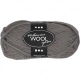 Melbourne Wolle, Grau, L: 92 m, 50 g/ 1 Knäuel