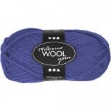 Melbourne Wolle, Blau, L: 92 m, 50 g/ 1 Knäuel
