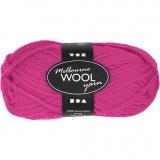 Melbourne Wolle, Neonpink, L: 92 m, 50 g/ 1 Knäuel