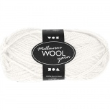 Melbourne Wolle, Naturweiß, L: 92 m, 50 g/ 1 Knäuel