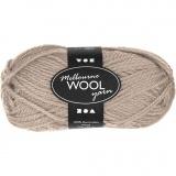 Melbourne Wolle, Beige, L: 92 m, 50 g/ 1 Knäuel
