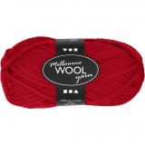 Melbourne Wolle, Rot, L: 92 m, 50 g/ 1 Knäuel