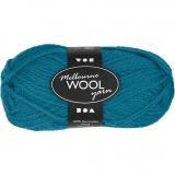 Melbourne Wolle, Petrol, L: 92 m, 50 g/ 1 Knäuel