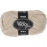 Sydney Wolle, Beige, L: 50 m, 50 g/ 1 Knäuel