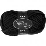 Sydney Wolle, Schwarz, L: 50 m, 50 g/ 1 Knäuel