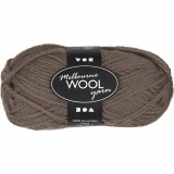 Melbourne Wolle, Graubraun, L: 92 m, 50 g/ 1 Knäuel