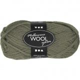 Melbourne Wolle, Dunkelgrün, L: 92 m, 50 g/ 1 Knäuel
