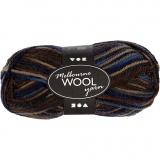 Melbourne Wolle, Brauntöne, L: 92 m, 50 g/ 1 Knäuel