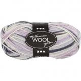 Melbourne Wolle, Pastelllila, L: 92 m, 50 g/ 1 Knäuel