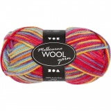 Melbourne Wolle, Multicolor, L: 92 m, 50 g/ 1 Knäuel