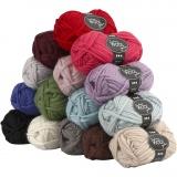 Sydney Wolle, Sortierte Farben, L: 50 m, Inhalt kann variieren , 15x50 g/ 1 Pck.