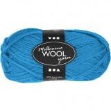 Melbourne Wolle, Hellblau, L: 92 m, 50 g/ 1 Knäuel