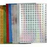 Hologramm Papier, A4, 210x297 mm, 120 g, 8 Bl. sort./ 1 Pck.