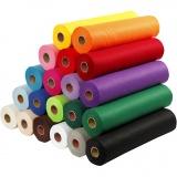 Bastelfilz, Sortierte Farben, B: 45 cm, dicke 1,5 mm, 180-200 g, 20x5 m/ 1 Pck.