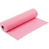Bastelfilz, Pink, B: 45 cm, Dicke 1,5 mm, 180-200 g, 5 m/ 1 Rolle