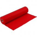 Bastelfilz, Rot, B: 45 cm, Dicke 1,5 mm, 180-200 g, 5 m/ 1 Rolle