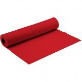 Bastelfilz, Rot, B: 90 cm, dicke 1,5 mm, 5 m/ 1 Rolle