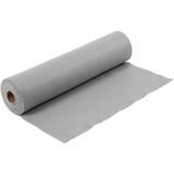Bastelfilz, Grau, B: 45 cm, Dicke 1,5 mm, 180-200 g, 5 m/ 1 Rolle