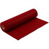 Bastelfilz, Rot, B: 45 cm, dicke 1,5 mm, meliert, 180-200 g, 5 m/ 1 Rolle