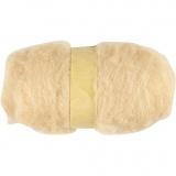 Wolle, kardiert, Hellbeige, 100 g/ 1 Bündl.