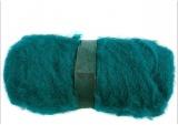 Wolle, kardiert, Grün, 100 g/ 1 Bündl.