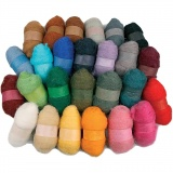 Kardierte Wolle - Sortiment, Sortierte Farben, 26x25 g/ 1 Pck.