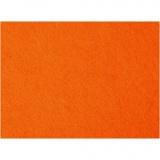 Bastelfilz, Orange, 42x60 cm, dicke 3 mm, 1 Bl.
