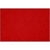 Bastelfilz, Rot, 42x60 cm, dicke 3 mm, 1 Bl.