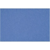 Bastelfilz, Blau, 42x60 cm, dicke 3 mm, 1 Bl.