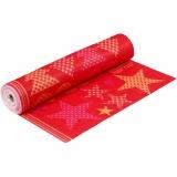 Motiv-Filz, Orange, Rot, B: 45 cm, dicke 1,5 mm, 180-200 g, 5 m/ 1 Rolle