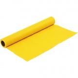 Bastelfilz, Gelb, B: 45 cm, dicke 1,5 mm, 180-200 g, 1 m/ 1 Rolle