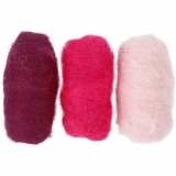Kardierte Wolle, Harmonie in Lila-Pink, 3x10 g/ 1 Pck.