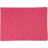 Bastelfilz, Pink, A4, 210x297 mm, dicke 1 mm, 10 Bl./ 1 Pck.