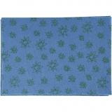Bastelfilz, Blau, A4, 210x297 mm, dicke 1 mm, 10 Bl./ 1 Pck.