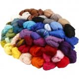 Wolle, Sortierte Farben, dicke 21 my, 20x20 g/ 1 Pck.