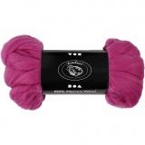 Wolle, Rotviolett, dicke 21 my, 100 g/ 1 Pck.