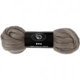Wolle, Naturgrau, dicke 21 my, 100 g/ 1 Pck.