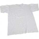 T-Shirt, Weiß, B: 40 cm, Größe 7-8 Jahre, Rundhalsausschnitt, 1 Stck.