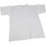 T-Shirt, Weiß, B: 44 cm, Größe 12-14 Jahre, Rundhalsausschnitt, 1 Stck.