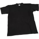 T-Shirt, Schwarz, B: 32 cm, Größe 3-4 Jahre, Rundhalsausschnitt, 1 Stck.