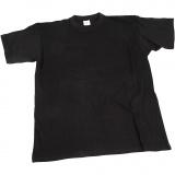 T-Shirt, Schwarz, B: 40 cm, Größe 7-8 Jahre, Rundhalsausschnitt, 1 Stck.