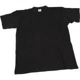 T-Shirt, Schwarz, B: 42 cm, Größe 9-11 Jahre, Rundhalsausschnitt, 1 Stck.